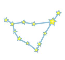 山羊の星の配置図