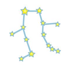 双子の星の配置図