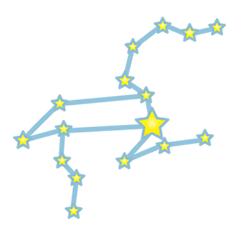獅子の星の配置図