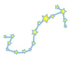 蠍の星の配置図